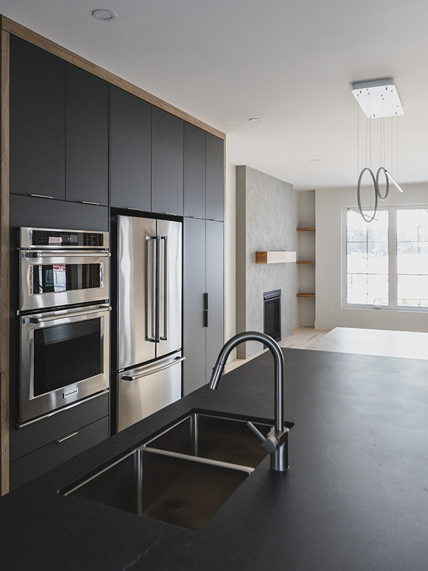 stainless steel appliances with double oven