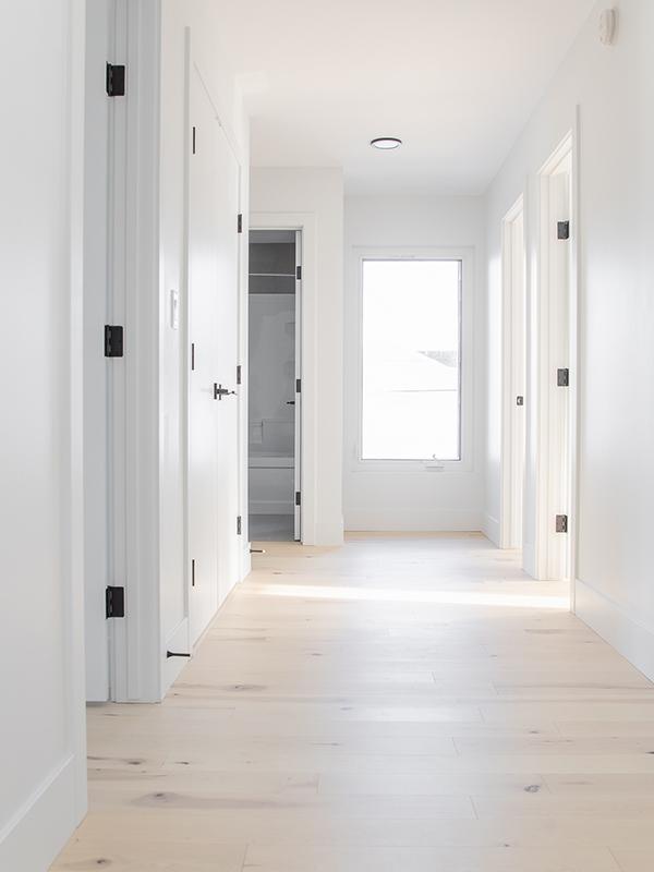 hardwood flooring in hallways