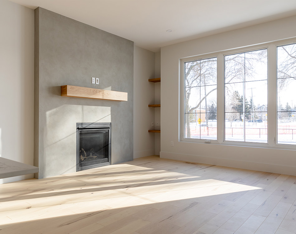 granite feature fireplace