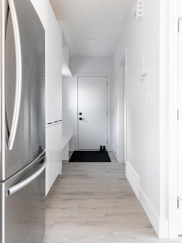 garage suite hallway