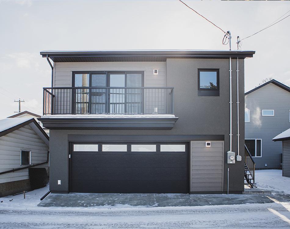 Garage suite exterior