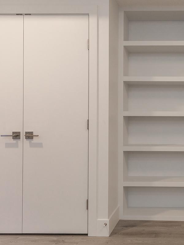 basement suite linen closet