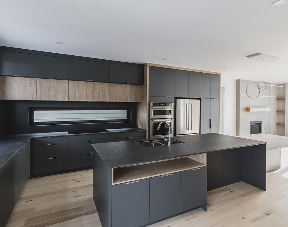 black custom kitchen