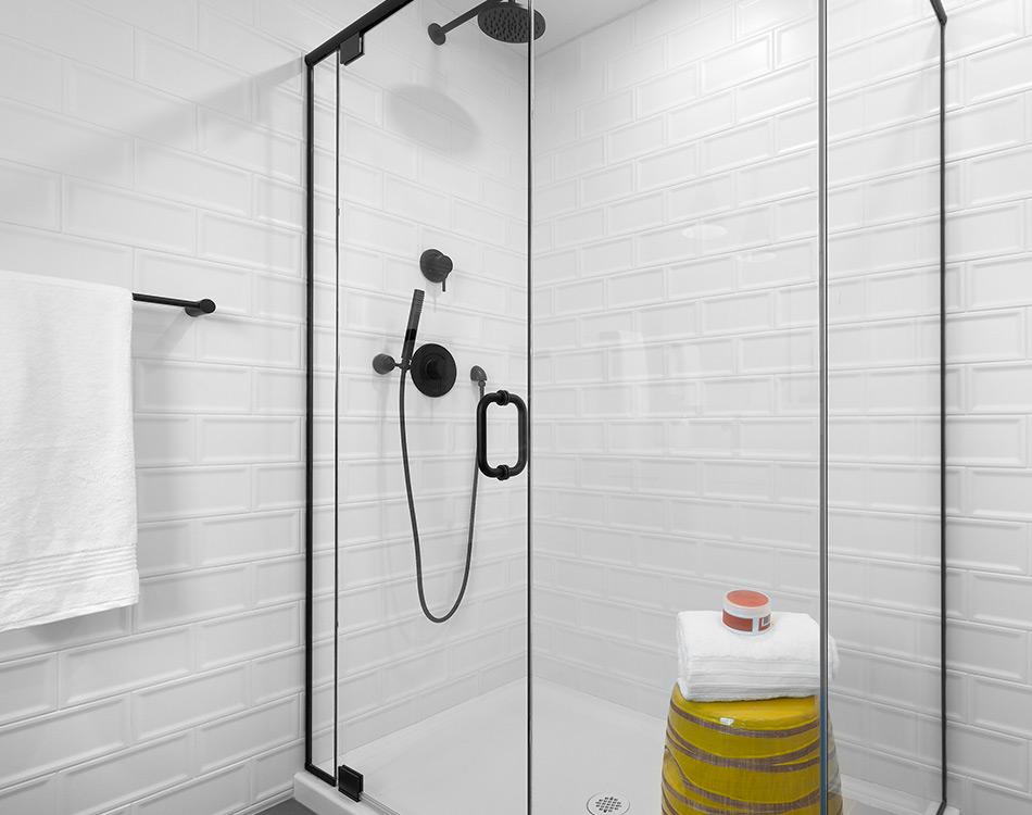 glass custom shower