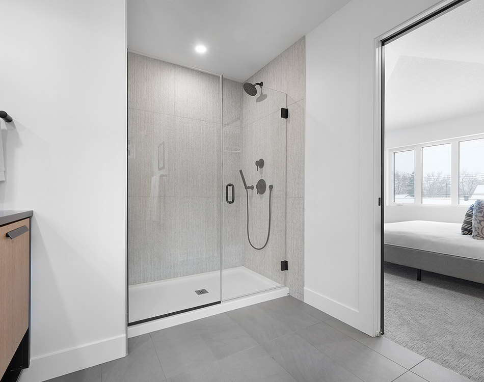 master bathroom glass shower