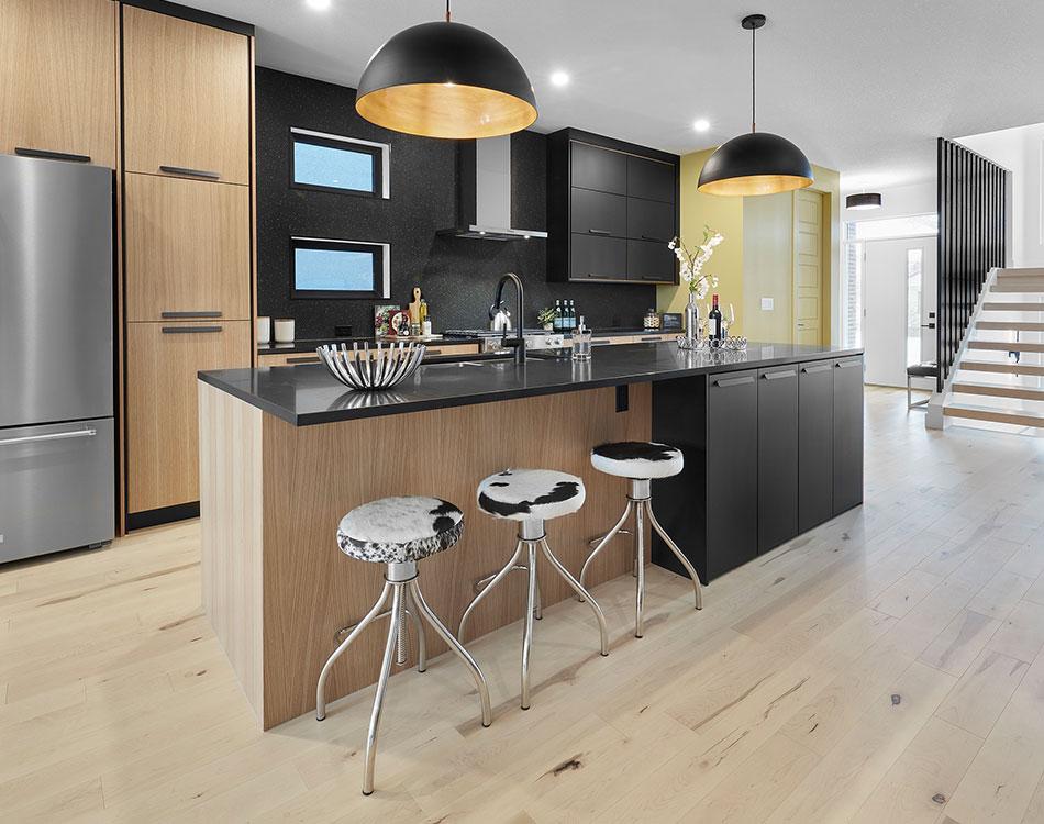 warm wooden kitchen