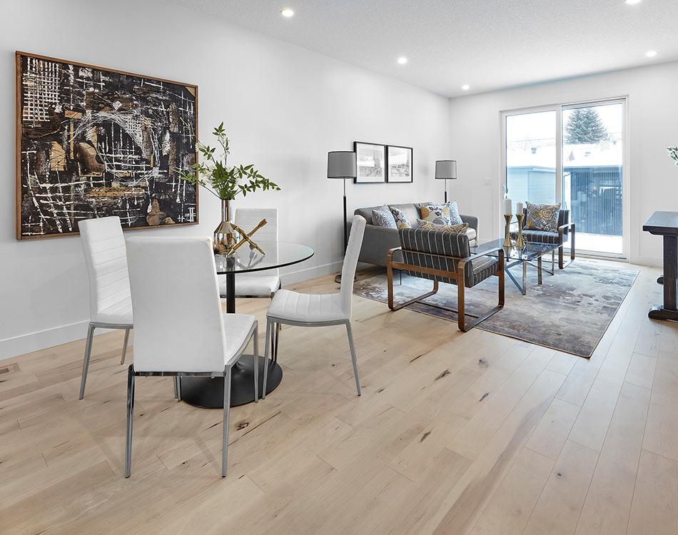 knotty pine modern dining room