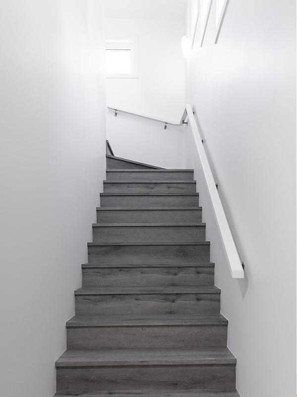 Backyard house stairwell