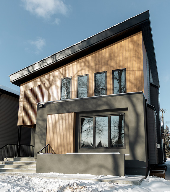 Infill house in Edmonton