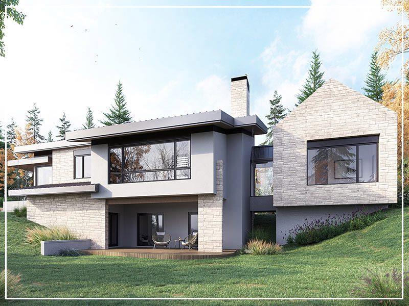 Custom Timber Haus Home in Edmonton